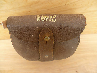 Vintage Old Australian Sanax First Aid Kit In Case (A143)