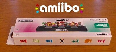 AMIIBO OFFICIAL DISPLAY STAND - NINTENDO 3DS/Wii U - New SEALED 4 x Storage