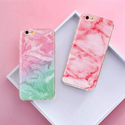 Stylish Cool Granite Marble Stone Effect Soft Case Cover For iPhone 8 7 6s Plus