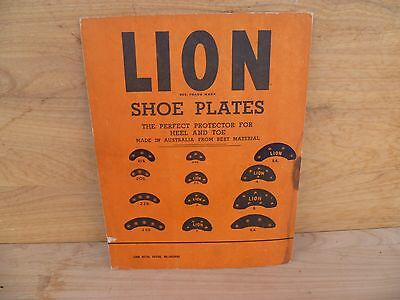 Vintage Old Card 'lion Brand' Shoe Plates, Advertising Card Sign, (A301)