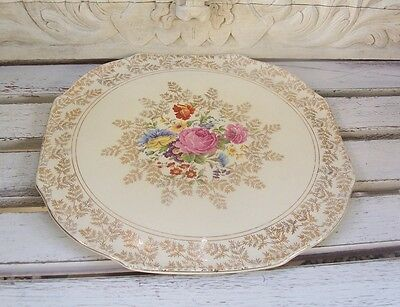 Shabby Vintage Cake Plate Lord Nelson Ware Staffordshire