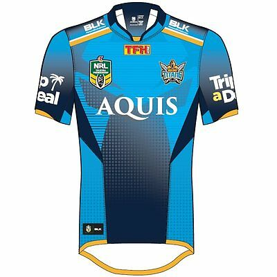BLK Sport Gold Coast Titans Replica Jersey Home 2017