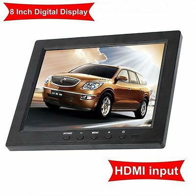 "8"" Inch TFT LCD Color Video Audio VGA HDMI BNC HD Monitor Screen For DVR PC CCTV"