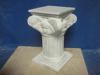 "Latex Rubber Mould Mold Of A  Pillar / Column ( With Angel) 8"" Height"
