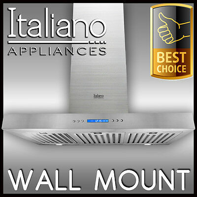 WALL MOUNT - RANGE HOOD 90cm 900mm STAINLESS STEEL CANOP ALFRESCO RANGEHOOD C1