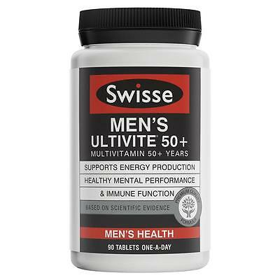 Swisse Men's Ultivite 50+ 90 Tablets **SUPER SPECIAL** May-2017 Expiry