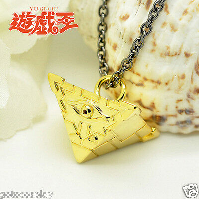 Yu-Gi-Oh Millenium Puzzle Seven Artifact Cosplay Metal Gold Pendant Necklace AAA
