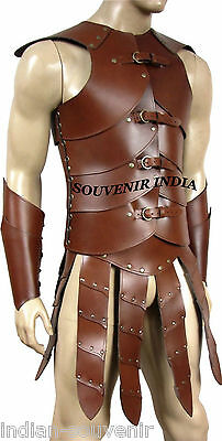 viking armour vest with skirt & HAND CUPS Medieval celtic DRAGON Armor LARP SCA