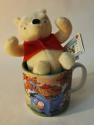 Winnie the pooh Mug cup Disney Classics exclusive with plush Rare piglet tigger