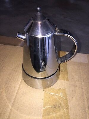 Bialetti  Mia 4-Cup Stovetop Coffee/Espresso Maker Stainless Steel RARE