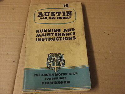 Austin A40 A50 Models Running And Maintenance Instructions  18