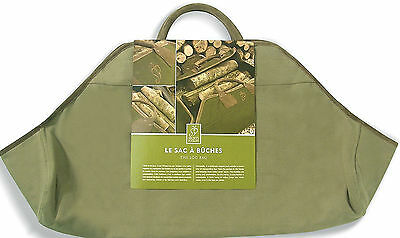 Fallen Fruits 5212 5212 Log Sack - Olive Green carrying Large Numbers Of Logs