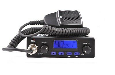 CB Mobile Radio TTI TCB-550 MULTI STANDARD AM FM 40 Channels 4 Watts EU UK GB