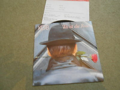 "KGB - Wo Ist Die Rose, rare 7"" mit Promobeilage, in TOP Condition"
