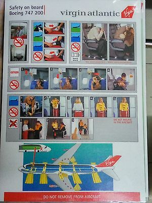 Airlines safety cards - virgin atlantic X 6