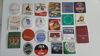 Assorted coasters x 39 of various themes including VB Cricket Series, Tiger Loun