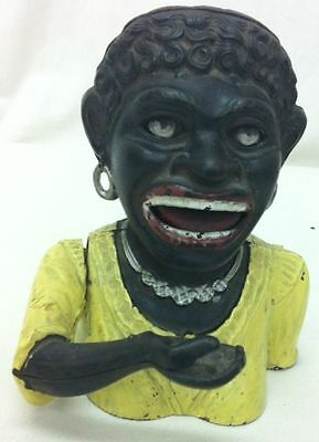 Vintage 'DINAH' Cast Iron Character Money Box Full Working Highly Collectable