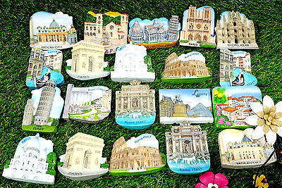 New Memorial Travel Fridge Magnet France Italy Souvenir Gifts Tourist Resin IT