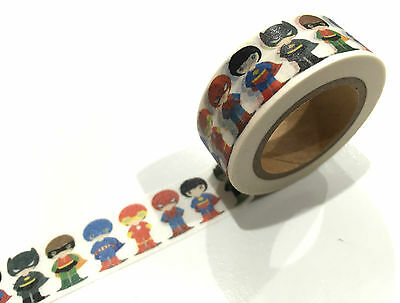 1PC NEW Japanese Washi Tape Craft Sticker, Super Heroes Batman Super Man Flash