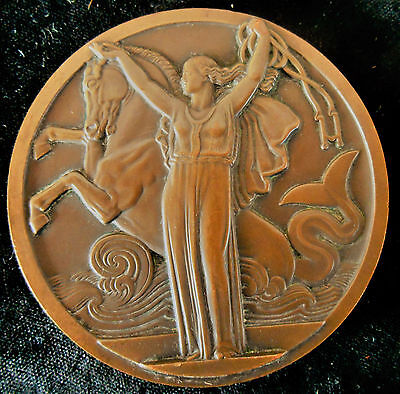 Ss Normandie-French Line-1935 -Le Havre-New-York- Superb Bronze  Art Deco