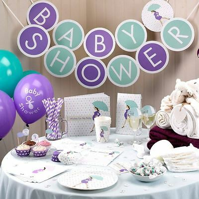 Showered with Love Baby Shower Party Decorations Boy Girl Unisex Mum to be