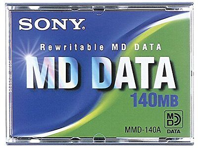 BRAND NEW SONY MMD-140A Rewritable MD DATA 140MB Free Shipping Worldwide