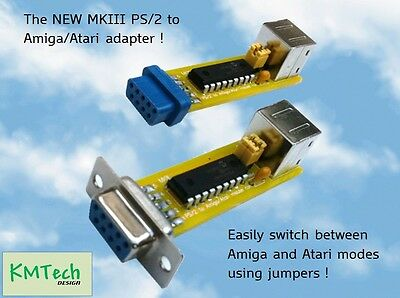 The New MKIII Amiga/Atari PS/2 mouse adapter with mode switch jumpers KIT DIY