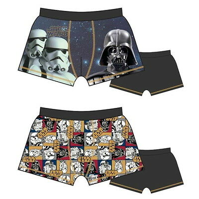 NEW OFFICIAL Star Wars Boys Boxer Shorts Boxers Pants Trunks / Underwear 2-Pack