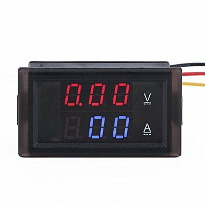 DROK® Digital Voltmeter Ammeter 100V Voltage Meter 300A DC Current Meter LED