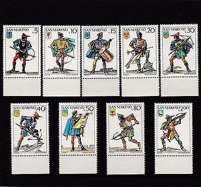San Marino #819-827 Mnh San Marino Victories In Crossbow Tournaments