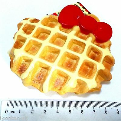 Jumbo Sprinkles Squishy Waffle Red Bow Biscuit Cellphone Strap Bread Kid Toys
