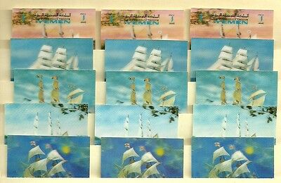 Yemen 3D stamps 3 sets ships & animals  4 sets ++ MNH - free WW Airmail