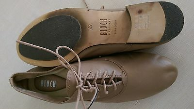BRAND NEW Bloch Leather Dance Shoes Pumice Size 39!