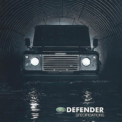 Land Rover Defender UK Market Specifications Brochure 2003 inc 90 110 Double Cab
