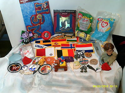 Junk Drawer  Lot Of Novelties,patches,miscellaneous Collectables