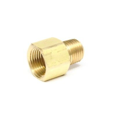 "Reducer 3/8"" Female NPT x 1/4"" Male NPT Pipe Adapter Brass Air Fuel Gas FasParts"