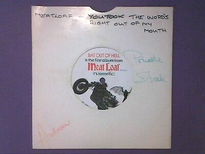 """Meat Loaf - You Took The Words Right Out Of My Mouth (7"""" single) EPC 5980"""