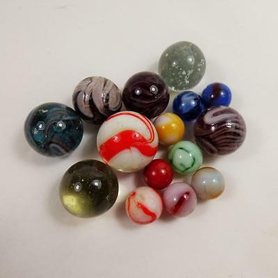 Selection Of Vintage Antique Glass Marbles Victorian