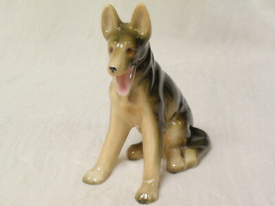Vintage-Japan Porcelain German Shepherd Dog Figurine