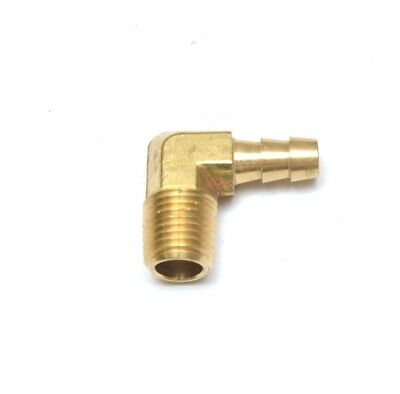 "5/16"" Hose ID - 1/4"" NPT Male Elbow Barbed Brass Fitting Air, Water, Oil, Gas"