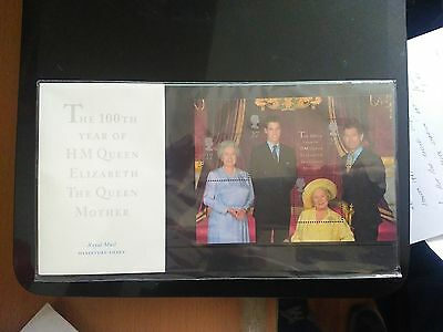 The 100Th Year Of Hm Queen Mother Royal Stamps X4