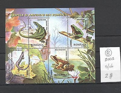 Romania 2003 MNH s/sh.Frogs.See scan.