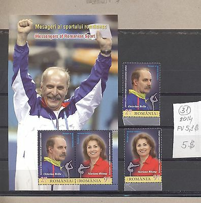 Romania 2014 MNH s/sh+set.Messengers of Romania Sports.See scan.