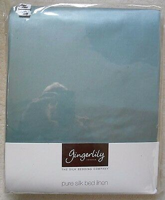 Gingerlily Silk/Cotton Fitted Super King Sheet - Aqua