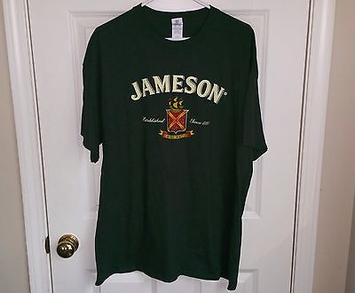JAMESON Irish Whiskey Established Since 1780 Green T-Shirt Mens/Adult Size XL