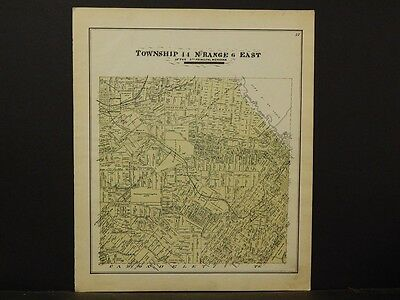 Missouri St Louis County Map 1893 Carondelet Township Range 11North 6 East K3#29
