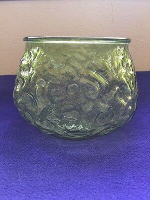 Brody Glass Crinkle Planter Green
