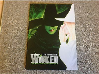 Wicked the Musical SIGNED Programme. Louise Dearman and more. London cast 2010