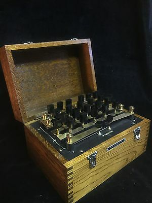 GRIFFIN & GEORGE LTD. WHEATSTONE BRIDGE, SCIENTIFIC , Antique Vintage Microscope