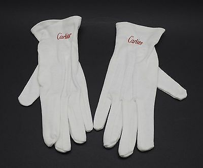 Authentic Cartier Watch/jewelry White Gloves Brand New